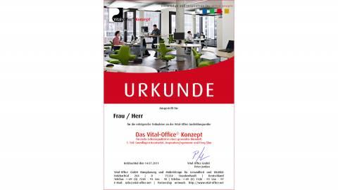 """26.04.2012 - Ausbildungsreihe:  1. """"Das Vital-Office Konzept"""" .. für mehr Lebensqualität in einer gesunden Bürowelt."""