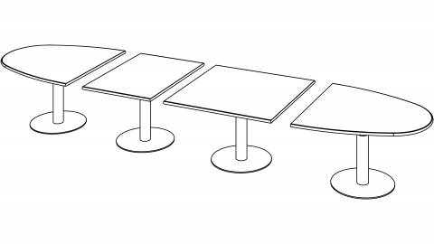 Variconferenz - Variable Conference tables oval