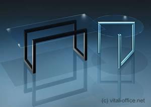 circon executive glass classics - executive desk - Glass table set: