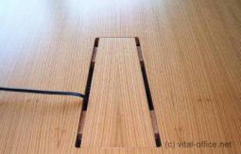 Comfortable hidden wiring of the desks and Conference tables from the ground up on the desktop