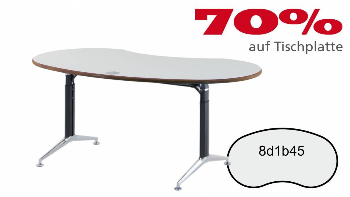 Verkauft: Schreibtisch 8d1b45 in grauweiß 1686x897mm