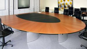 circon s-class - 5x4m - Half elliptical conference table for Proactiv, Hilden