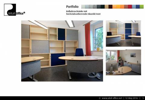 VitAcoustic: Sound-absorbing shutter cabinets