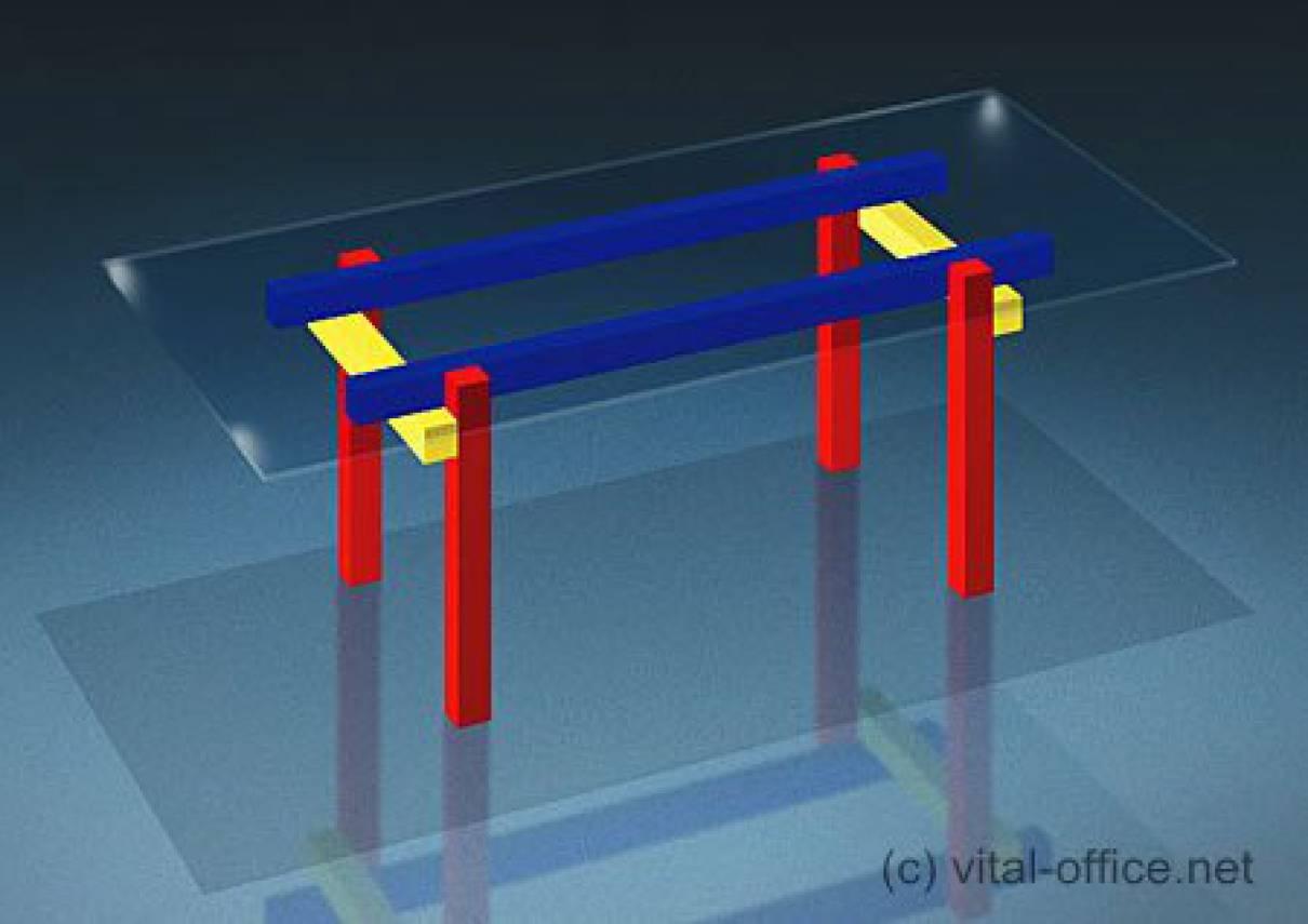 circon executive glass classics - executive desk - Red Yellow Blue Table