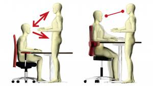 How saddle chairs and open angle sitting foster communication and collaboration
